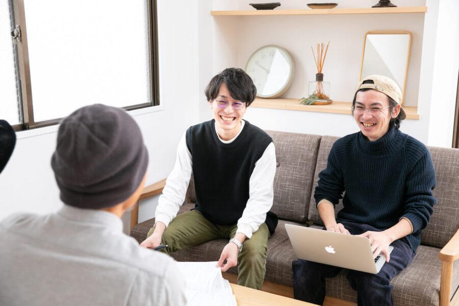 リノベーション会社のインタビュー風景